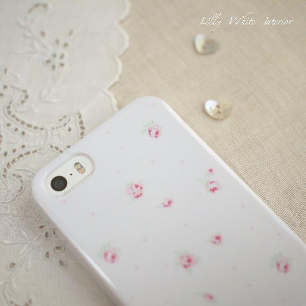 iPhone 5/5s/6/6plus/6s/6s plus ロンドンローズ アイフォンケース・カバー*リリィホワイトデザイン