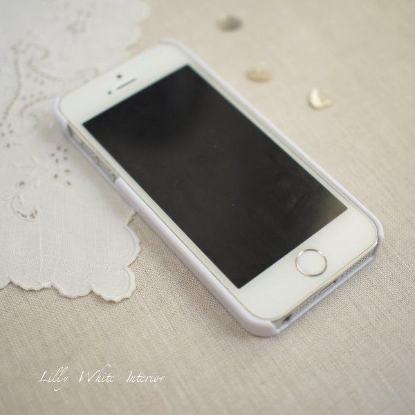 iPhone 5/5s/6/6plus/6s/6s plus ラビット&クローバー アイフォンケース・カバー*リリィホワイトデザイン